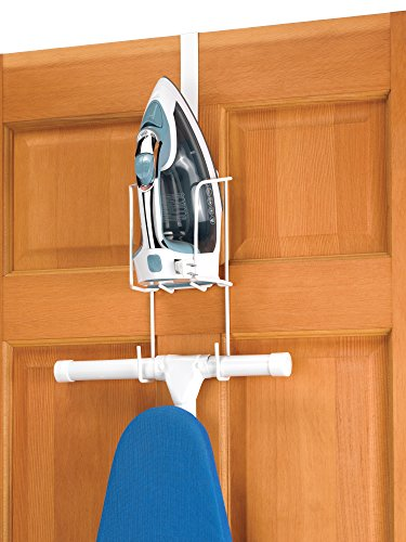(Whitmor Wire Over The Door Ironing Caddy - Iron and Ironing Board Storage Organizer)