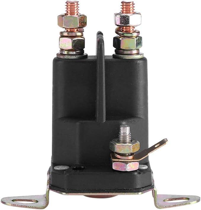 Zetiling Solenoide de Arranque, solenoide de Arranque Universal 12V Interruptor magnético de cortacésped Uso de Parte para Accesorios 109946 146154 1753539 AM138497(33-331)