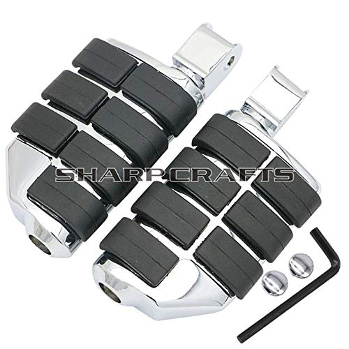 Frames & Fittings Motorcycle Front Rider Foot Pegs FootRests for Honda Fury VTX1800 VTX1800C VTX1800F VTX1300C VT1300 Sabre Stateline Floorboards - (Color: B)