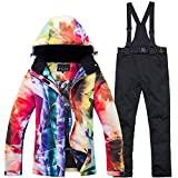 Women's Ski Jacket with Pants Windproof, Warm, Ski Skiing/Camping / Hiking/Snowboarding Poly, Eco-Friendly Polyester Pants/Trousers / Snow Bib Pants/Top Ski Wear/Winter