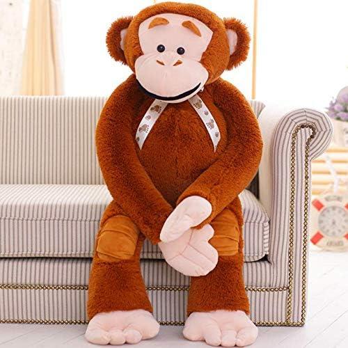 WSJMIANJU Juguete de Peluche Lindo Creativo Gorila Muñeca De Hip-Hop Mono Bocazas Mono De Peluche Muñeca del Día De Los Niños para Enviar A Las Niñas Marrón Claro 115 cm: Amazon.es: Juguetes