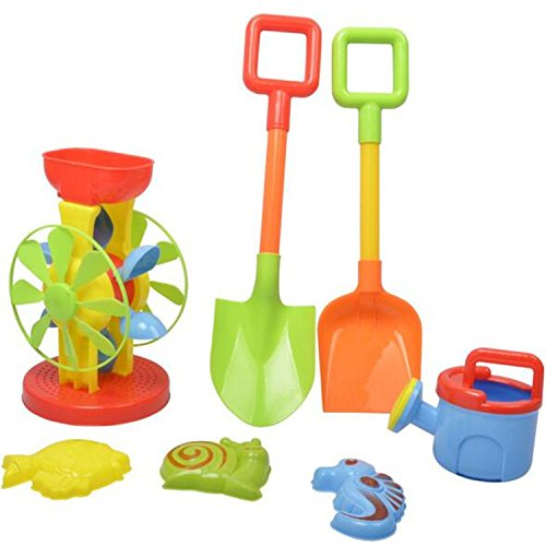 Children Play Hourglass Sand Beach Toys 7pcs/set Tool Water Outdoor Creativity (Farm Tractor Deluxe Party Pack)