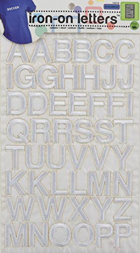 Embroidered Iron On Letters (Dritz Iron-On Embroidered Letters, Block - white)