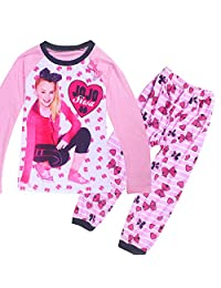 Wazonton JoJo Siwa Girl's Long Sleeve Sleepwear Nightgown for Girls, Pink