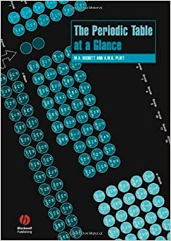 The Periodic Table at a Glance (Chemistry At a Glance) by Mike Beckett (2006-06-08)