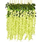 6-Pack-375-FeetPiece-Artificial-Fake-Wisteria-Vine-Ratta-Hanging-Garland-Silk-Flowers-String-Home-Party-Wedding-Decor-Green-Wisteria
