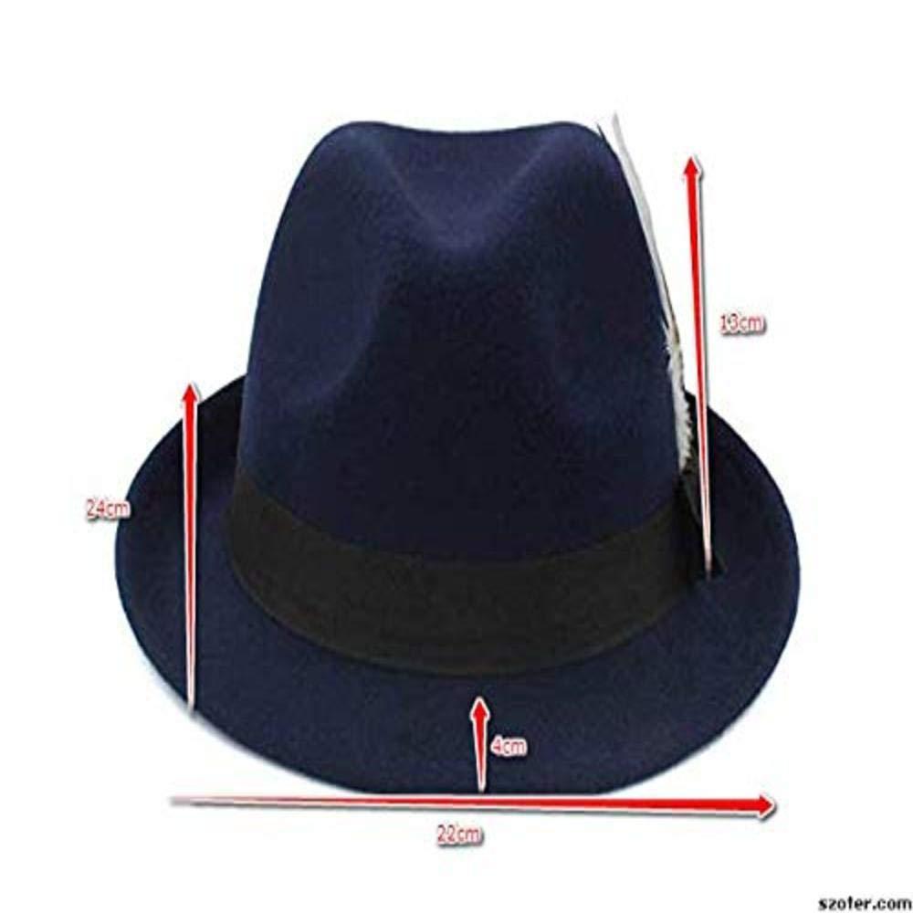 Fedora Kentucky Blue Hats for Men Derby Dress Pachuco Casual Manhattan Gangster Jazz Storage Friendly Sunhat,That is Lightweight Packable Fashion Stylish Made of 100/% Wool//Felt