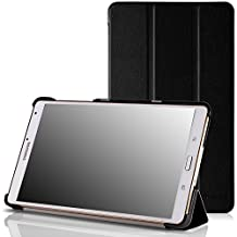 MoKo Ultra Slim Lightweight Smart-shell Stand Case for Samsung Galaxy Tab S 8.4 Inch Android Tablet, BLACK (Will NOT Fit tab pro 8.4) (With Smart Cover Auto Wake / Sleep)
