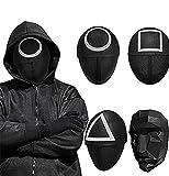 4pcs Masked Man Mask, Halloween Cosplay Full Face