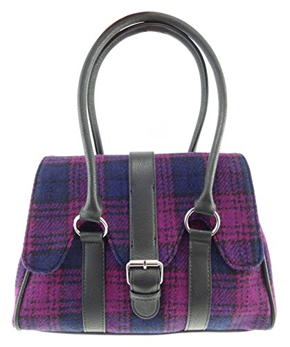 Scallop Harris LB1017 Handbag Tweed Col43 Flapover Ladies v4wHgtxKq