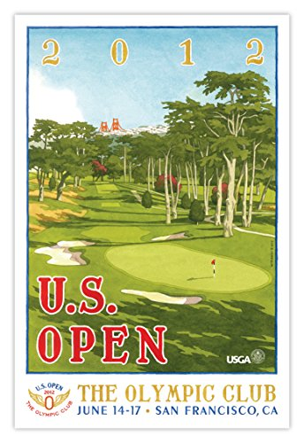 2012 Olympic Poster - Signed 2012 U.S. Open Olympic Club Mini-Poster by Lee Wybranski