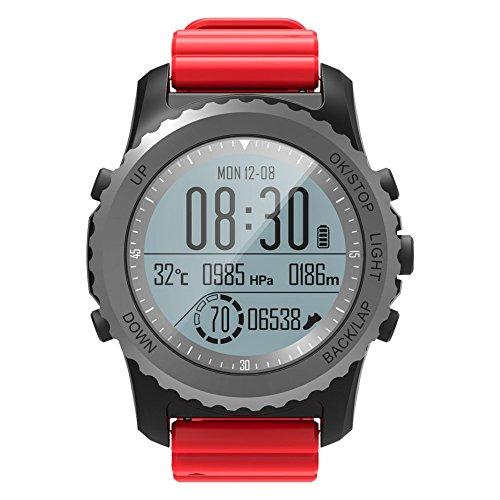 Kariwell Sport Smart Watch - IP68 Waterproof Clock Display/Heart Rate Monitor/Pedometer/Sedentary Alarm Kari-98 (Red)