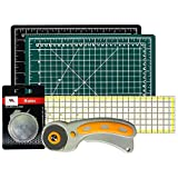 Rotary Cutter with Self Healing Mat &Quilting Ruler –Professional Quilting & Sewing Set (18x24)