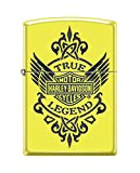 Zippo Harley-Davidson True Legend Pocket Lighter, Neon Yellow