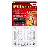 filter 14 x 25 - Filtrete MPR 1000 14 x 25 x 1 Micro Allergen Defense HVAC Air Filter, 2-Pack