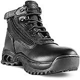 Ridge Footwear Men's Mid Side Zip Boot,Black,10 W US