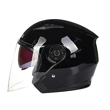 MERRYHE Moto Flip Up Helmets Visor Doble Casco De Cara Abierta para Mujeres Unisex Hombres Motocicleta