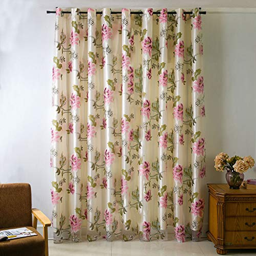 Curtains Sheer Net White Canopy Room Divider Voile 1 Panel ()