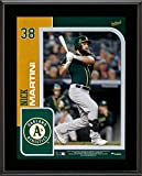"""Nick Martini Oakland Athletics 10.5"""" x 13"""" Sublimated Player Plaque - MLB Player Plaques and Collages"""