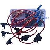 KOLACEN Automotive Car Truck Mini Blade Type Fuse Assorted Kit 120 Pieces + 3 Pieces in-line 16 Gauge Mini Fuse Holder + 3 Pieces 16 Gauge Add-a-Circuit Fuse TAP Adapter