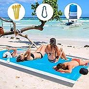 TinyNN Beach Blanket Oversized 79''×83'', Portable Beach Mat Sand Free Waterproof, Outdoor Pic