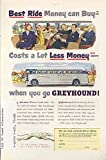 1950 GMC Silversides Greyhound Bus Ad IT&T Capehart TV