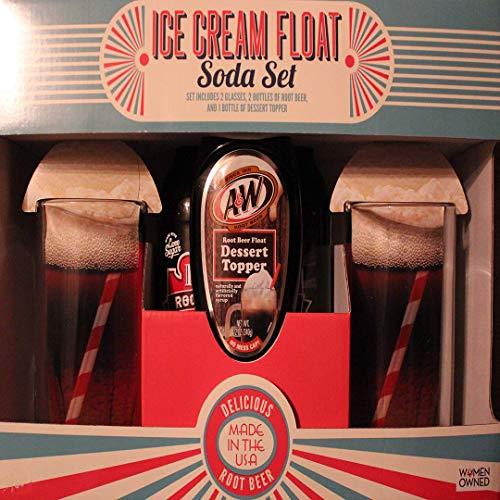 (Ice Cream Float Glasses, Root Beer Soda, A & W Dessert Topper)