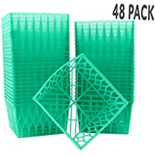 48-Pack Pint Size Plastic Berry Baskets, 4-Inch Berry Boxes with Open-Weave Pattern, Ideal for Summer Picking & Crafts! (48 Boxes)