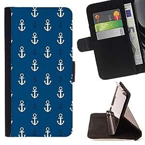 - Anchor Boat Pattern/ Personalizada del estilo del dise???¡Ào de la PU Caso de encargo del cuero del tir????n del soporte d - Cao - For Samsung Galaxy S3 Mini I8190Samsung Galaxy S3 Mini I8190