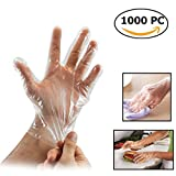 Disposable Food Prep Gloves 1000 Piece Plastic Food Safe Disposable Gloves for Cooking,Cleaning,Food Handling