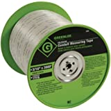 Greenlee 435 Polyester Conduit Measuring Tape, 3/16-Inch By 3000-Feet