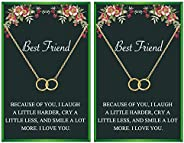 Your Always Charm Best Friend Necklaces for 2 Interlocking Infinity Circles Gift Best Friends Pendant Friendsh
