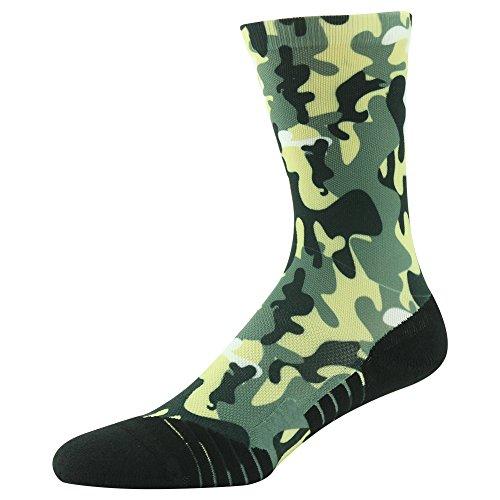 HUSO Digital Camo Performance Sports Hiking / Trekking Wick Crew Socks for Unisex 1,3,4,6,13 Pairs hot sale