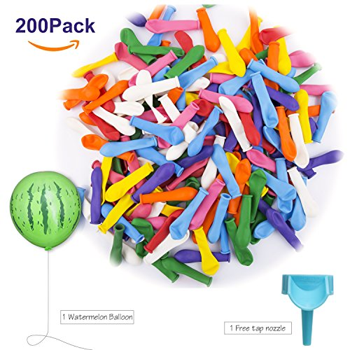 Teletrogy 200 Pack Water Balloons with Refill Kits Latex Water Bomb Fight Games-Summer Splash Fun for Kids and Adults