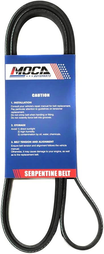 MOCA EPDM Serpentine Belt fit 97-03 A6 Quattro 2.8L /& 98-00 A4 2.8L /& 98-02 Prizm 1.8L /& 03-08 Toyota Corolla 1.8L 6PK1880