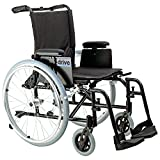 Drive Medical Cougar Ultra Lightweight Rehab Wheelchair with Various Arms Styles and Front Rigging Options, Black, 16""