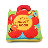 Poity 12 Pages Cloth Book Baby Kids Intelligence Development Educational Learning Toys