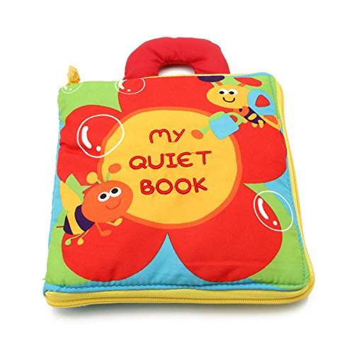 LANDUM 12 Pages Cloth Book Baby Kids Intelligence Development Educational Learning Toys