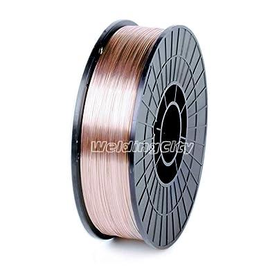 """WeldingCity ER70S-6 ER70S6 Mild Steel MIG Welding Wire 11-Lb Spool 0.030"""" (0.8mm) - Mig Welding Equipment - .com"""