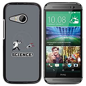 // PHONE CASE GIFT // Duro Estuche protector PC Cáscara Plástico Carcasa Funda Hard Protective Case for HTC ONE MINI 2 / M8 MINI / Aperture Lab Science - Funny Gaming /
