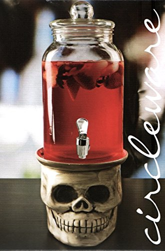 Circleware Beverage Dispenser on Skull -