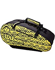 Wilson Unisex MINIONS TOUR BAG tenis, żółty, 12 rakiet