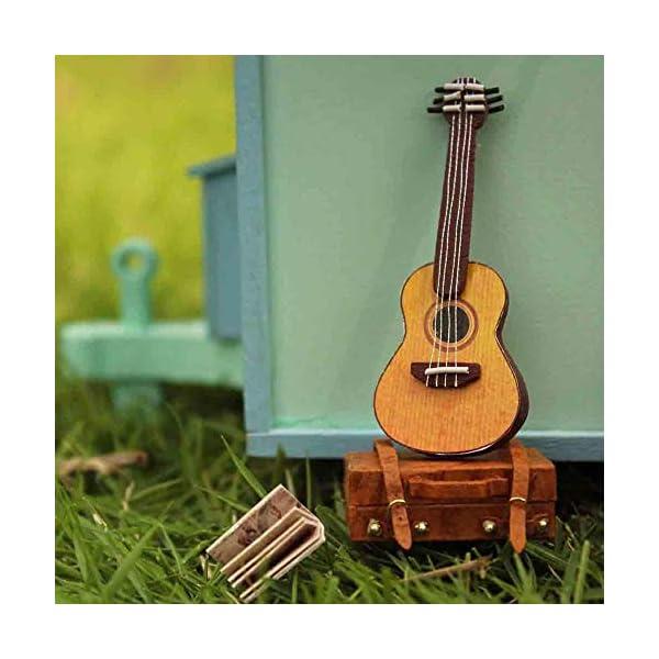 51y3JqXamXL Puppenhaus Süß Haus DIY House mit Licht als Kinder Geschenk, 3D Holz Miniaturhaus Kit Kunsthandwerk Geschenk für…