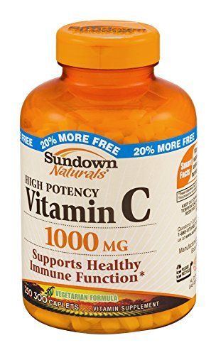 Sundown Naturals Vitamin C 1000 mg Caplets 300 CP - Buy Packs and SAVE (Pack of 4)