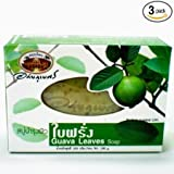 New Abhabibhubejhr Soap Skin of Guava Leaves 100g.