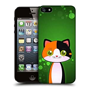 Case Fun Calico Cat by DevilleART Snap-on Hard Back Case Cover for Apple iPhone 5 / 5S