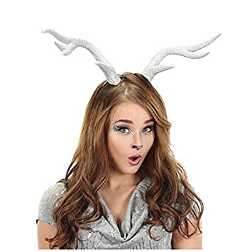 fancy face paint color halloween silver glitter deer antlers