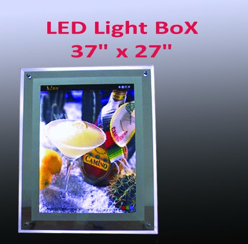 A1 Size LED Slim Crystal Frame Light Box 37