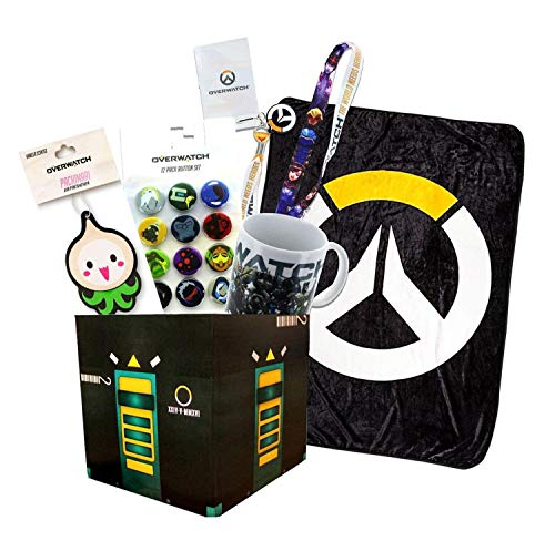 - Toynk Overwatch Collectibles |Collectors Looksee Box | Fleece Blanket | Mug | Pins