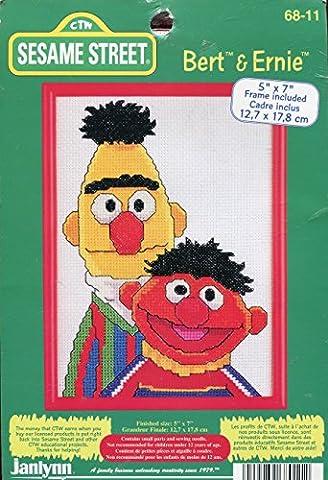 Janlynn Sesame Street Bert & Ernie Counted Cross Stitch Kit (Sesame Street Cross Stitch)